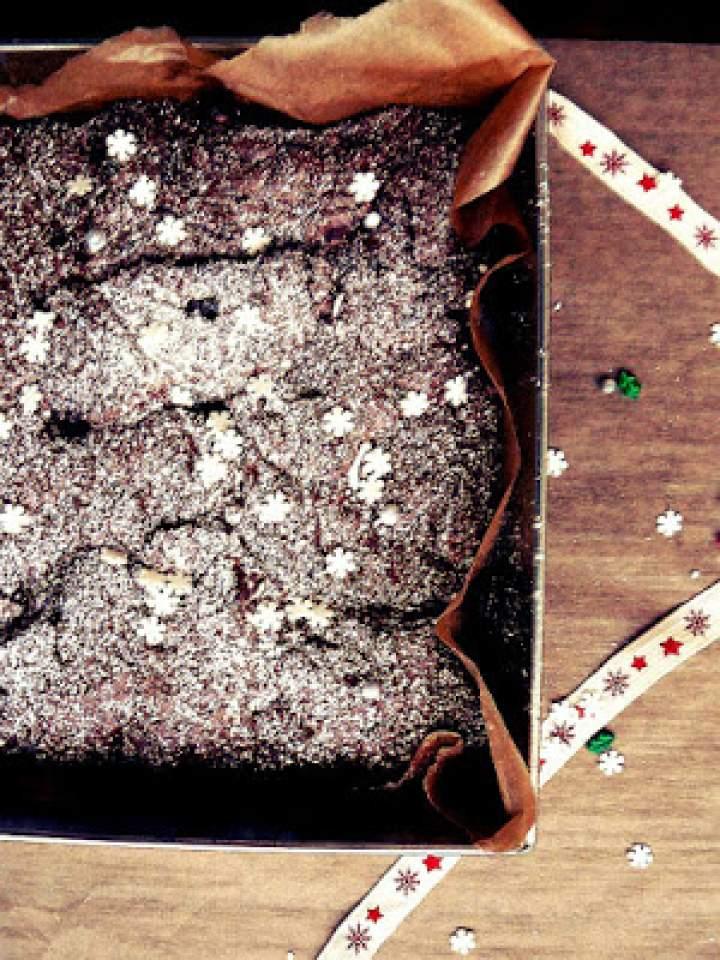 Świąteczne brownie