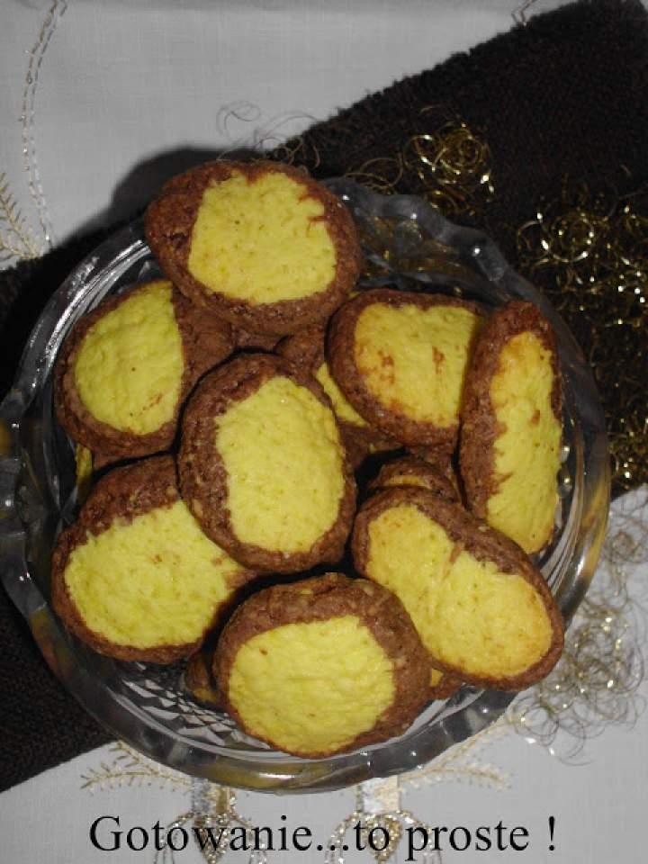 Kruche ciasteczka czekoladowo – imbirowe