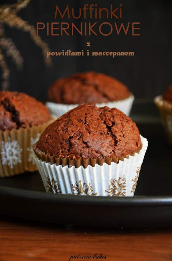 Muffinki piernikowe z powidłami i marcepanem