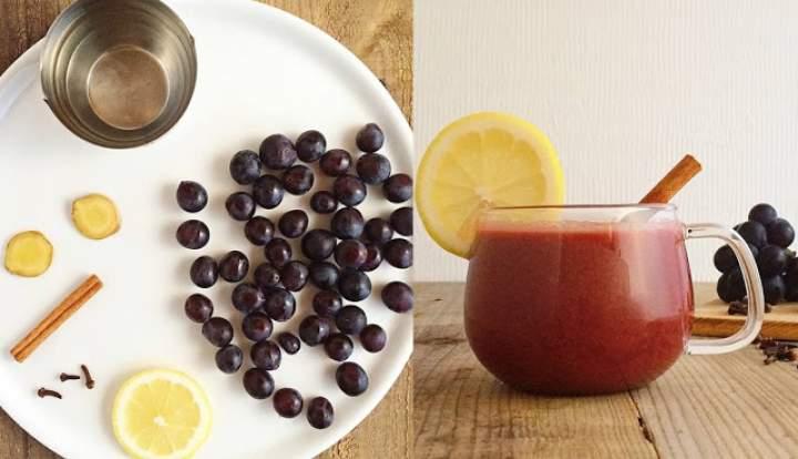 winogrona + goździki + imbir + cynamon + cytryna