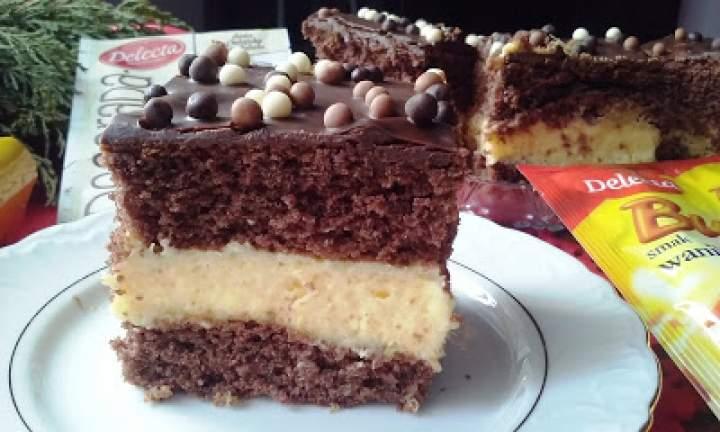 Ciasto czekoladowe z kremem pomarańczowym