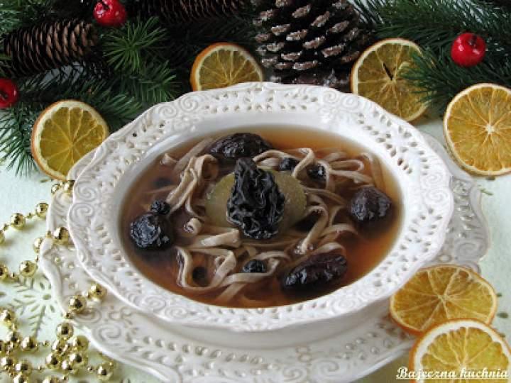 Wigilijny zupa z owoców suszonych