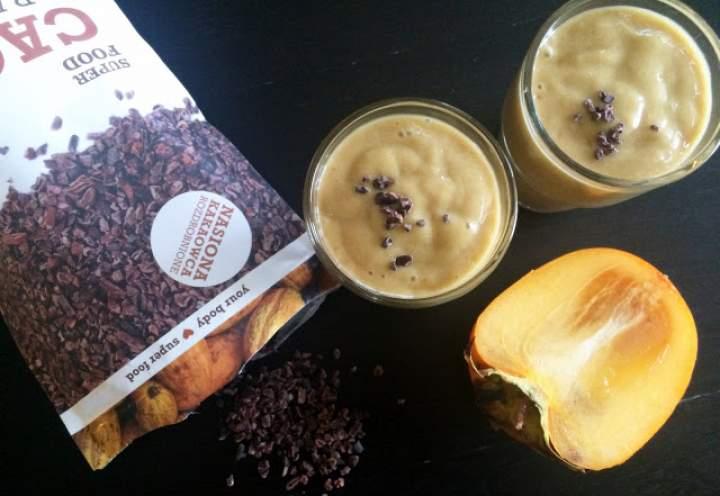 awokado + banan + kaki + cytryna + ziarna kakaowca