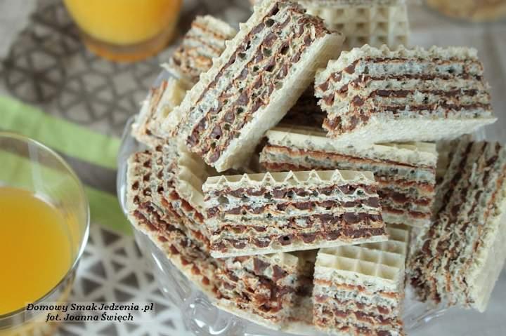 domowe wafelki czekoladowe z nutką kawy