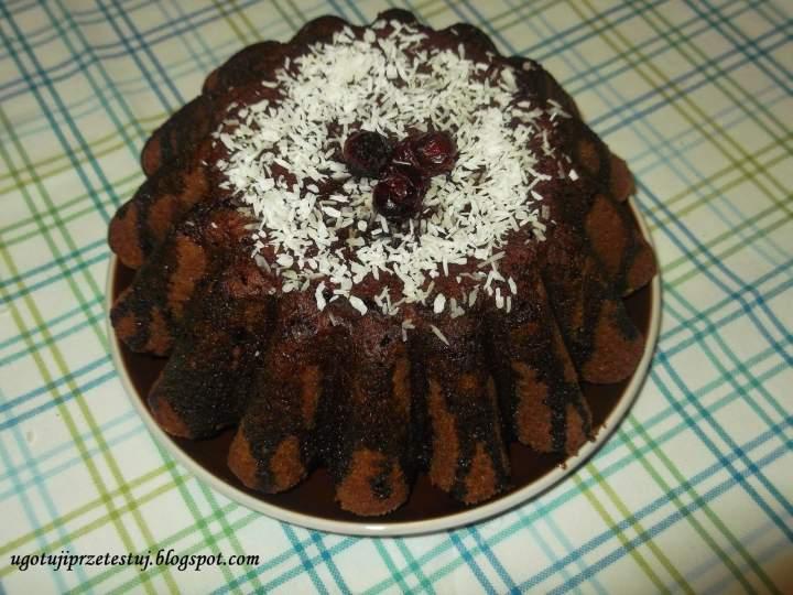 Babka czekoladowa (pierwszy wypiek Lubego)