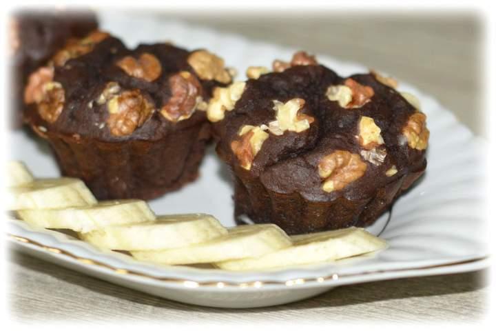 Brownie z fasolą i bananem(muffinki i ciasto)