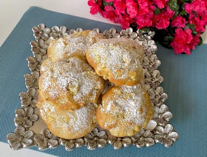 Maślane ciastka z jabłkami