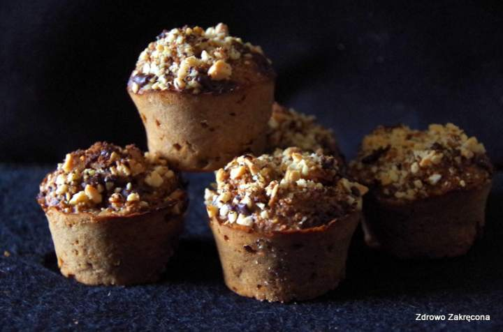 Beztłuszczowe jesienne muffinki śniadaniowe z gruszkami i kardamonem