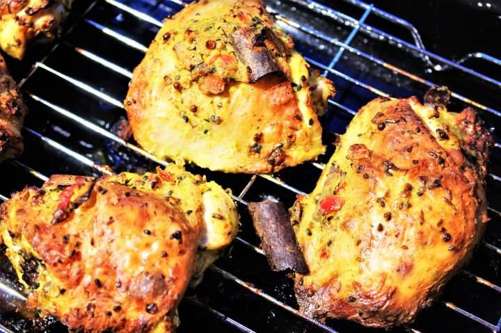 Pieczony kurczak w wersji orientalnej /Baked chicken in an oriental style