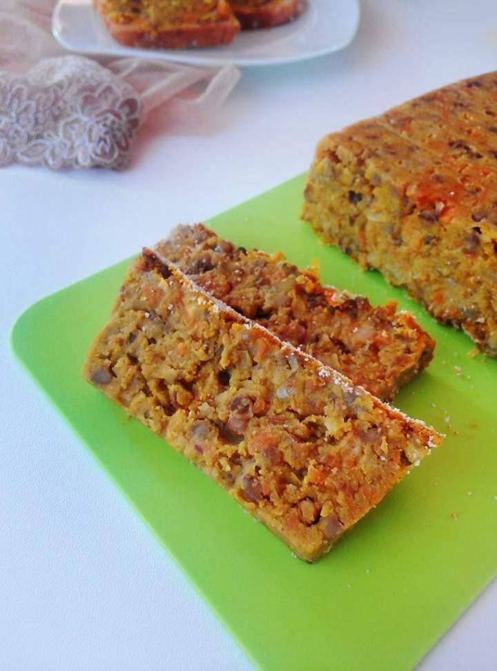 PASZTET Z SOCZEWICY – wersja pieczona i gotowana (wegański)