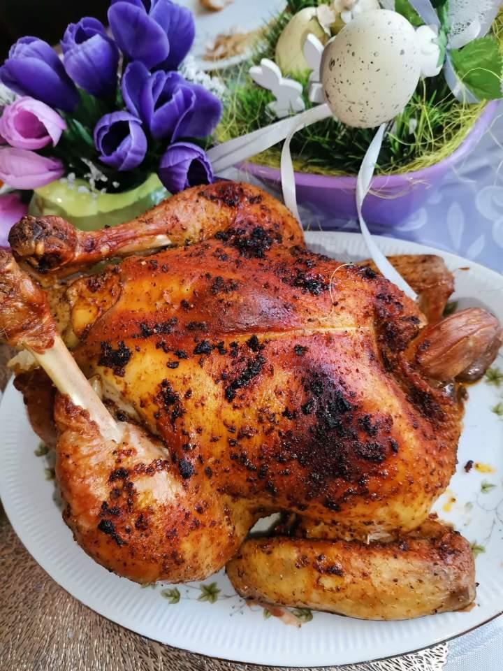 Kurczak nadziewany ryżem z dodatkiem warzyw