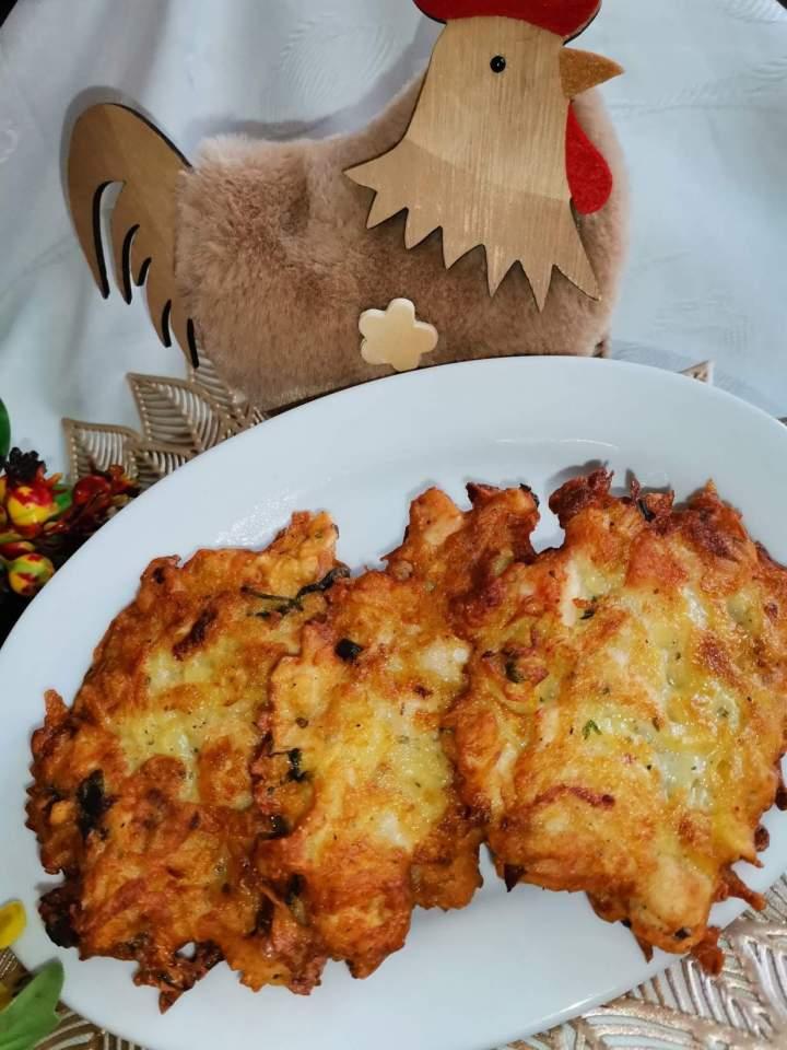 Placki z ziemniakami oraz z piersią kurczaka