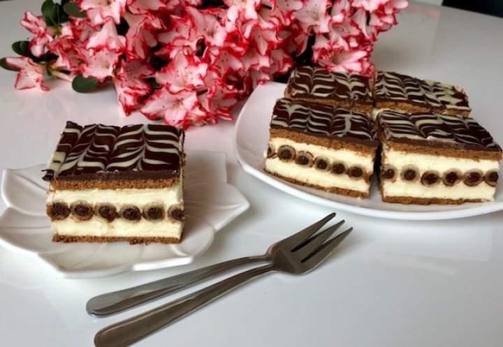 Rurociąg- pyszne ciasto bez pieczenia!