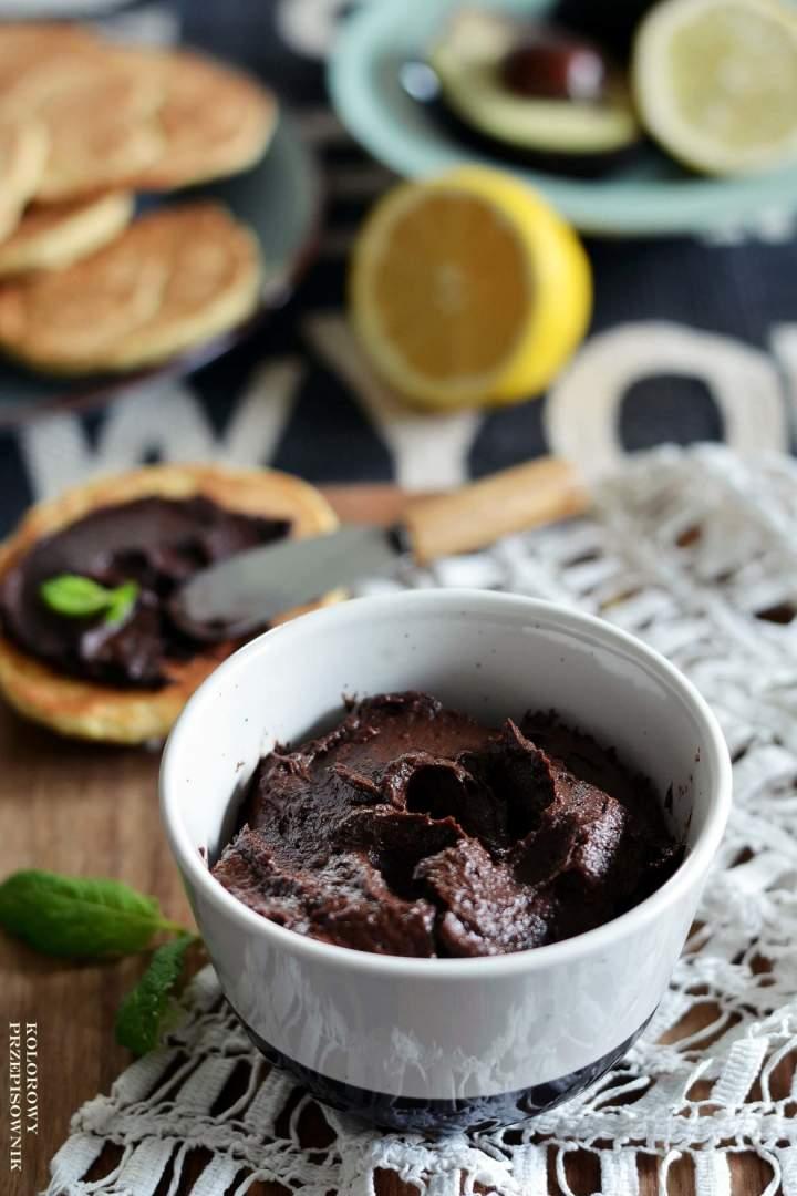 Krem czekoladowy zawokado (wegański)