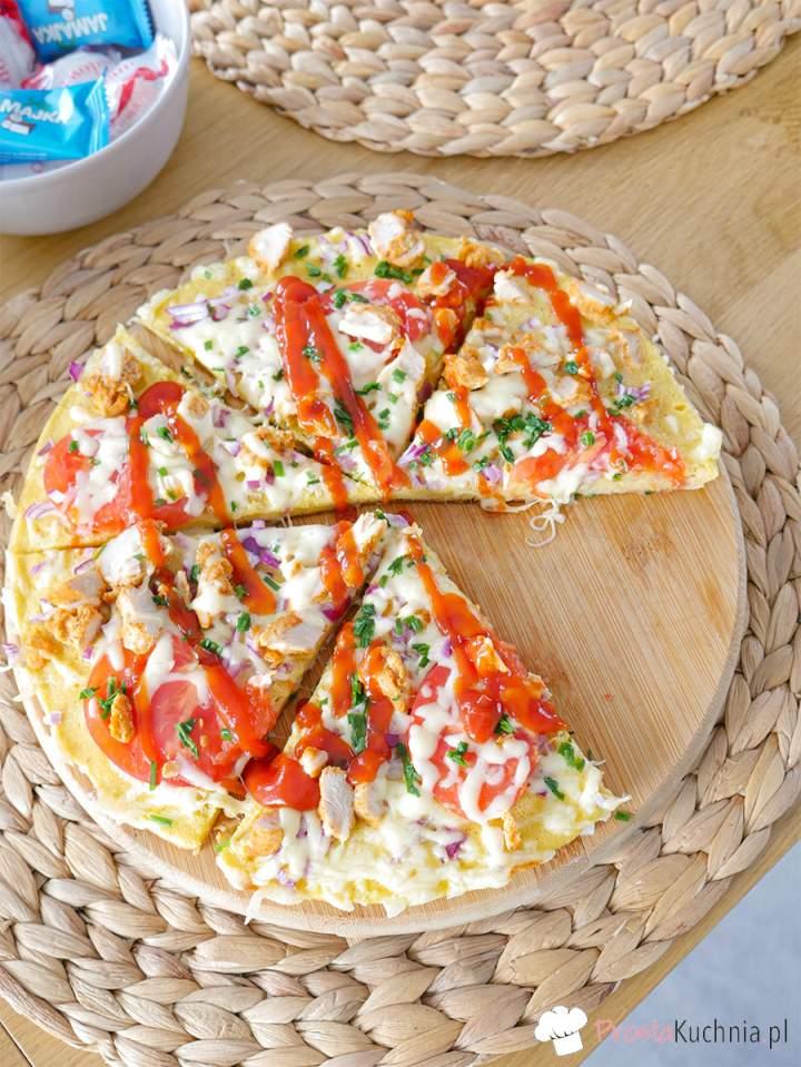 Pizza z patelni bez drożdży
