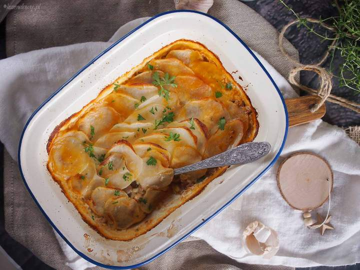 Zapiekanka ziemniaczana z mięsem i grzybami / Meat and mushroom potato bake