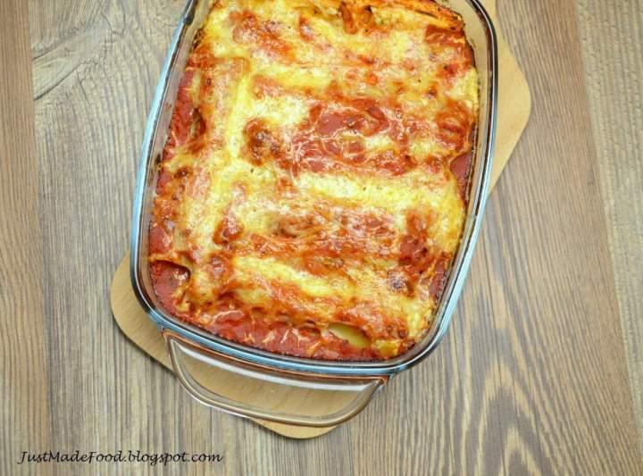 Cannelloni mięsno-pieczarkowe
