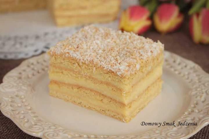 komunijne ciasto z kremem waniliowym