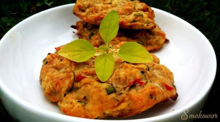 Kotleciki z kurczakiem i warzywami (z piekarnika)