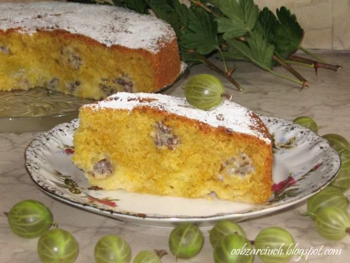 Ciasto ucierane z agrestem