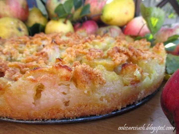 Kruche ciasto jabłkowo-gruszkowe