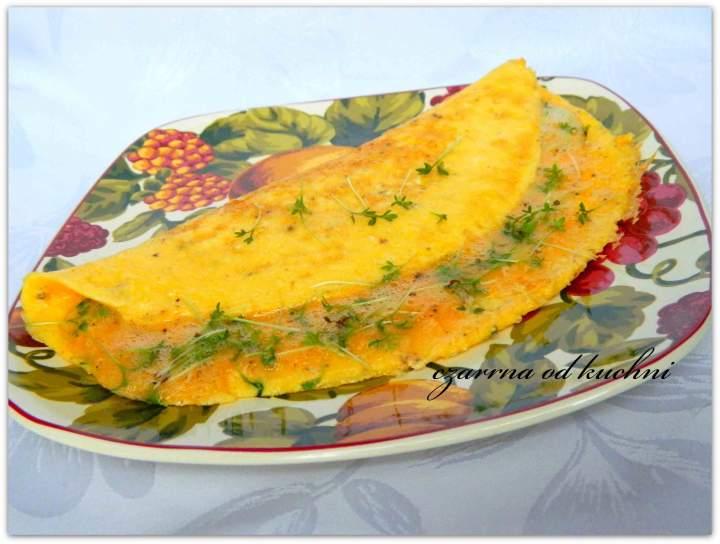 Omlet z rzeżuchą