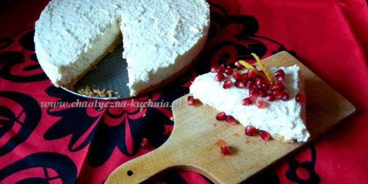 Dietetyczny, cytrynowy sernik na zimno z jogurtu naturalnego